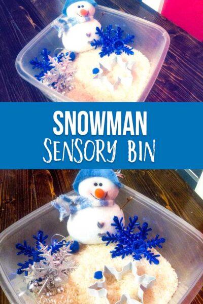 Simple Snowman Sensory Bin