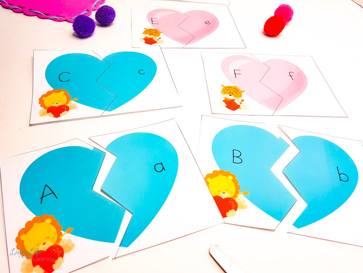Printable Valentines letter puzzles