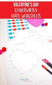 Valentine's Day Kindergarten Math Worksheets