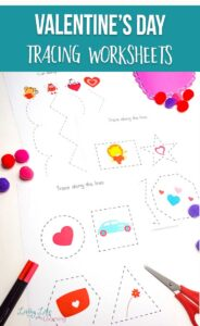 Valentine's Day Tracing Worksheets