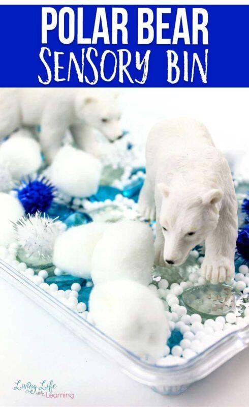 Easy Polar Bear Sensory Bin