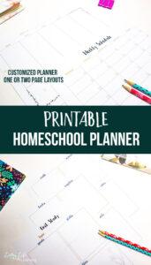 The Unorganized Mom Printable Homeschool Planner