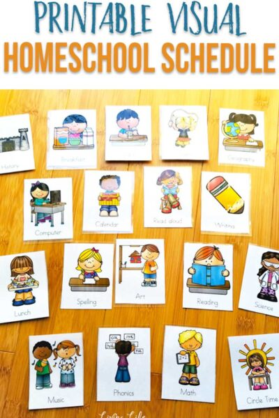 Printable visual homeschool schedule