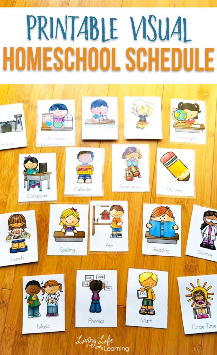 Printable Visual Homeschool Schedule