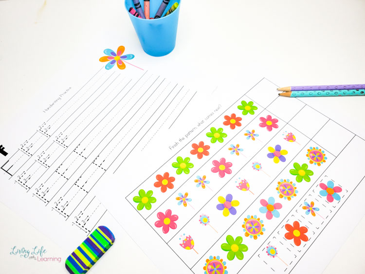 spring flower printable for kids