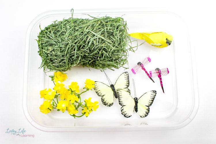 spring sensory bin supplies
