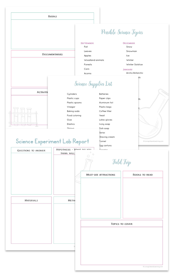 Free Science Lesson Planner