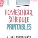 Homeschool schedule printables to make homeschool planning easy