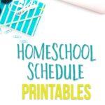 Homeschool schedule printables