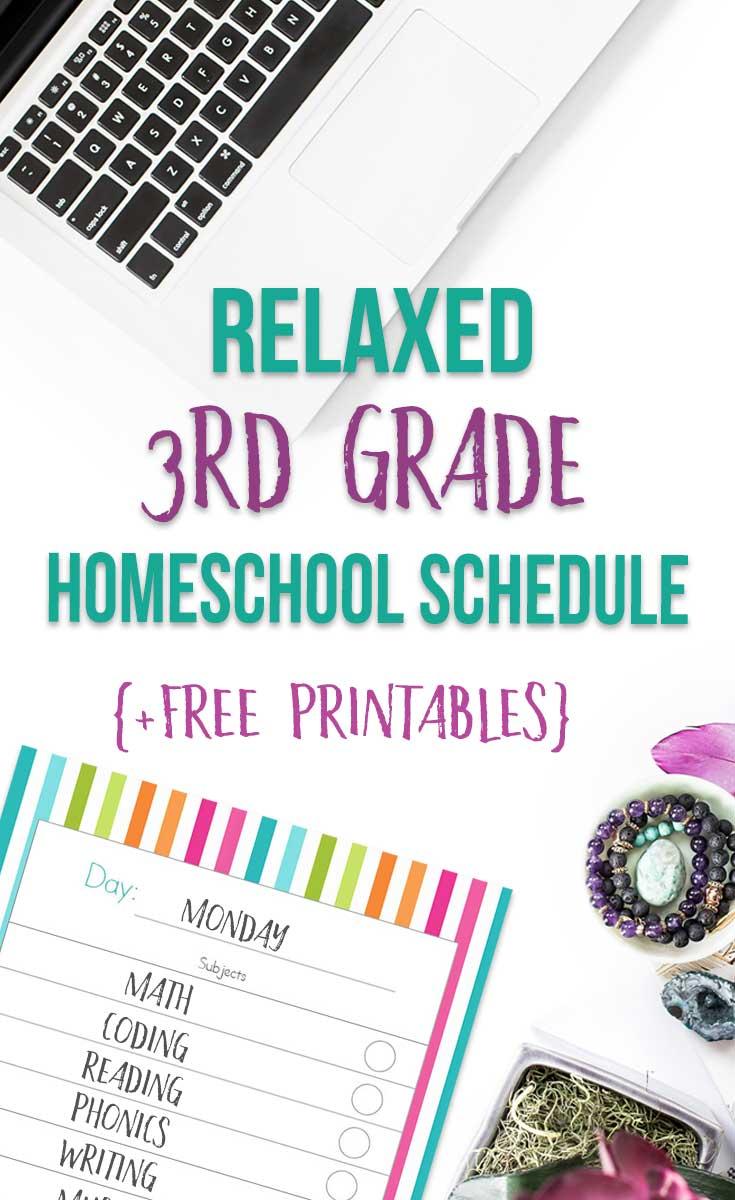 A Relaxed 3rd Grade Homeschool Schedule
