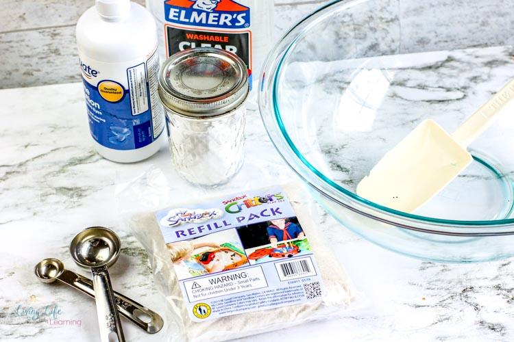 Simple sand slime recipe ingredients