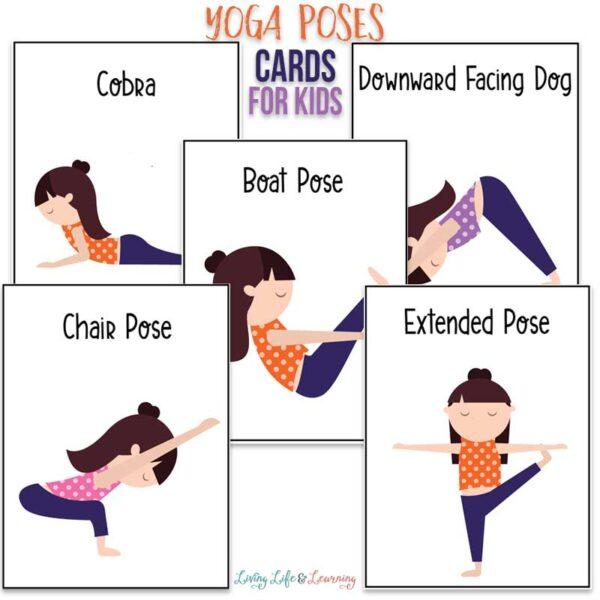 Printable yoga poses cards for kids