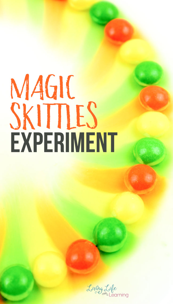 A rainbow simple Skittles experiment for kids