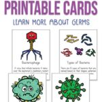 Fight Germs Printable Cards for Kids