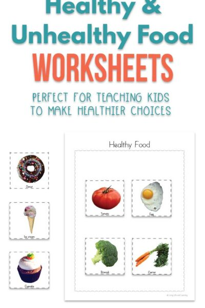 Healthy and Unhealthy Food Worksheets for kids