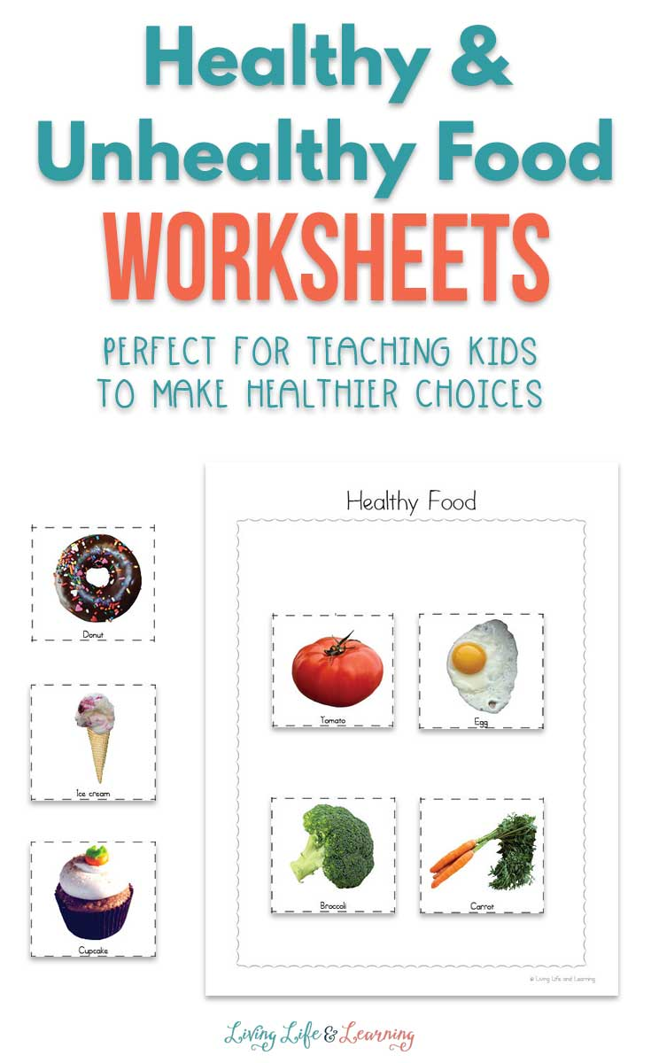 Teaching kids how to make healthy and unhealthy food choices starts with a conversation. Use these free worksheets to help you talk to your kids!
