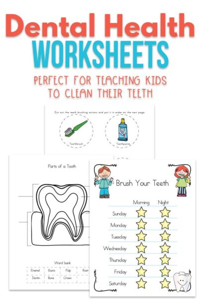 Dental Health Worksheets for Kids