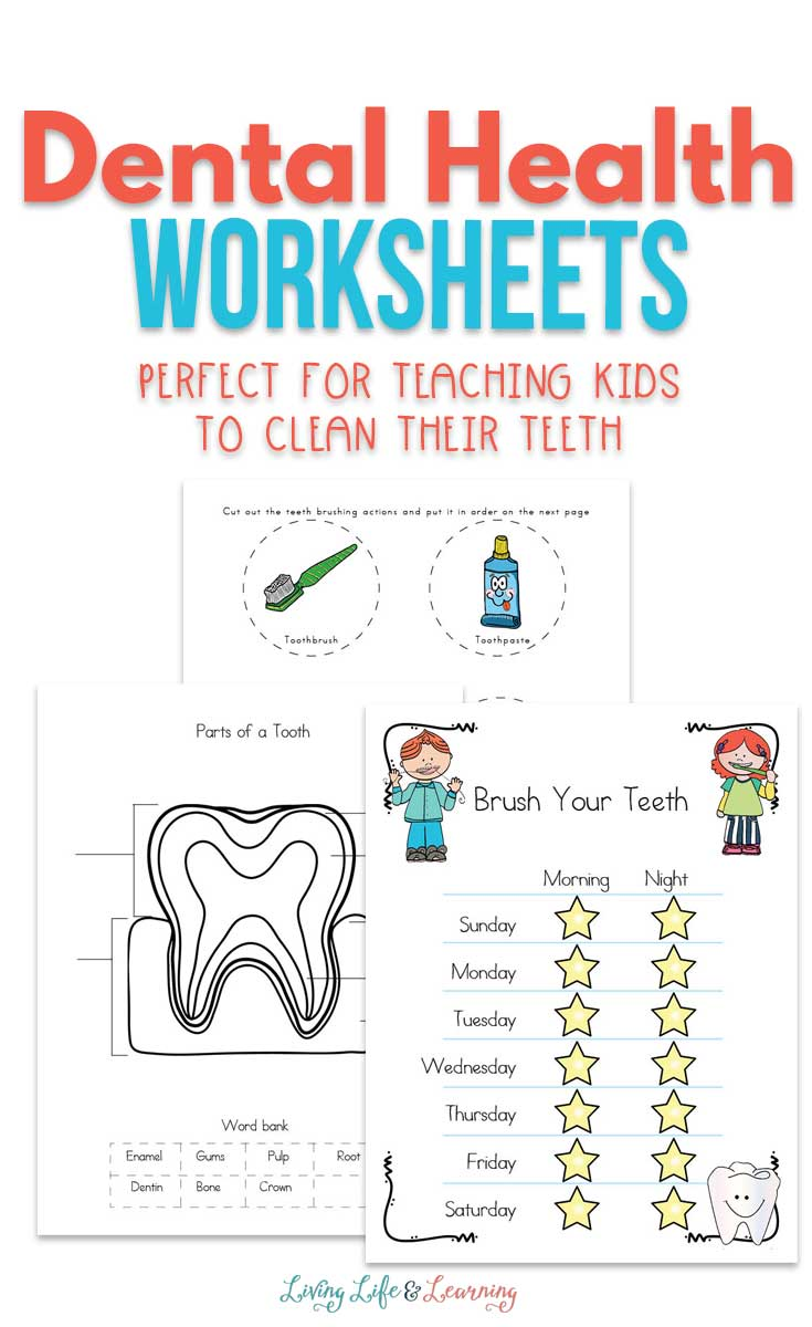 Use these dental health worksheets for kids to help you develop good dental hygiene habits in your kids. Includes a healthy routines chart for motivation!