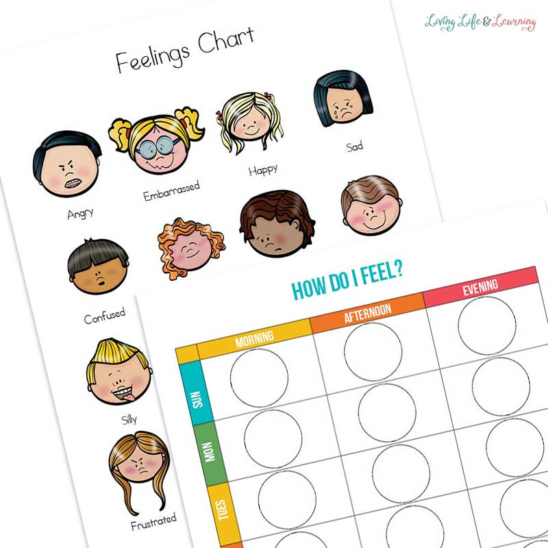 Use this simple feelings chart for kids to help your kids learn about emotions. When kids can recognize and name their feelings, they can deal with them.
