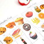 Healthy and Unhealthy Food Sorting Worksheet