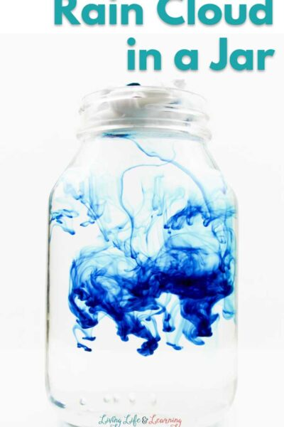 Rain Cloud in a Jar Science Experiment