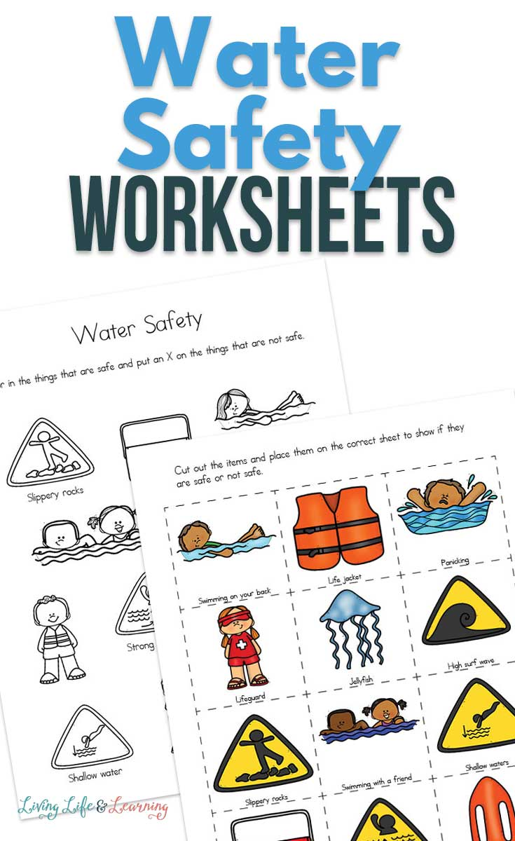 Teaching with these water safety worksheets for kids will make sure that water remains something that's fun to play with, and not scary at all.