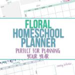 Floral Free Printable Homeschool Planner