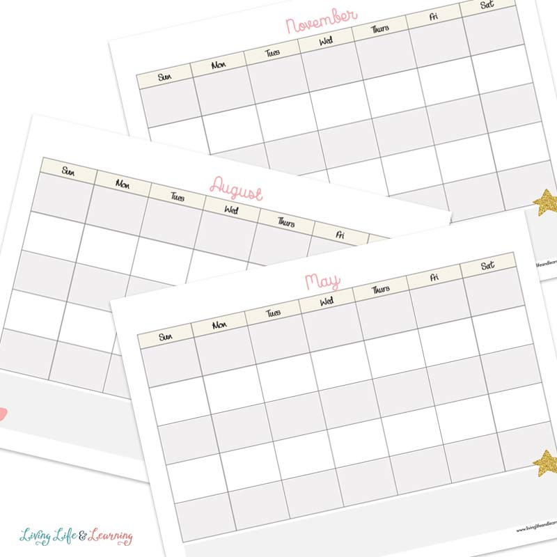 Homeschool Calendar Printable