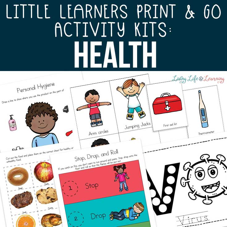 Little Learners Print & Go Activity Kit: Health