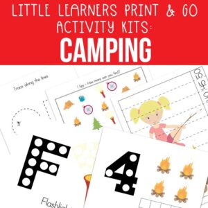 Little Learners Print & Go Activity Kit: Camping