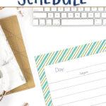1st grade homeschool schedule