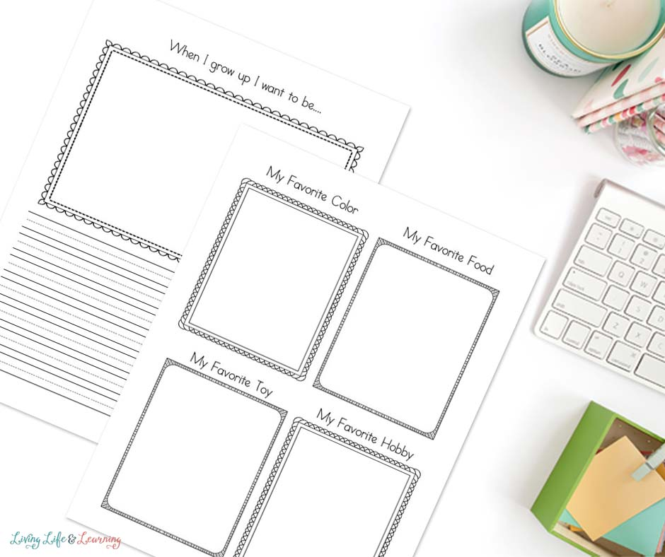 more about me worksheets for favorite items