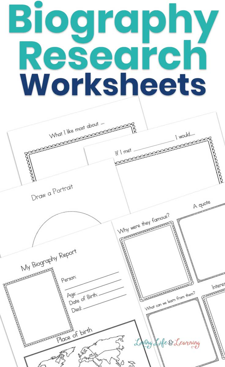 biography research worksheets