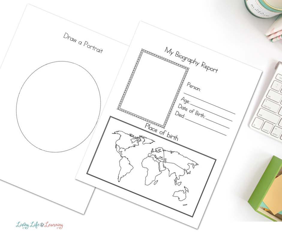 biography worksheets for kids