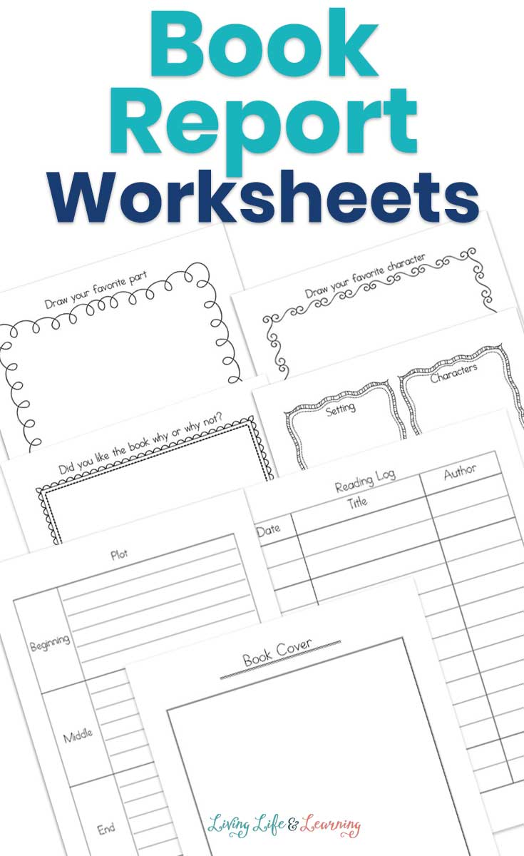 Book report worksheets laid out
