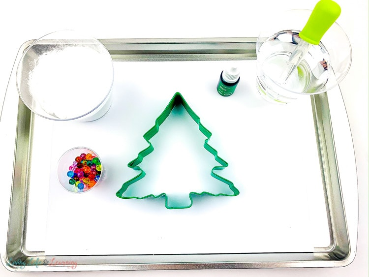 Fizzy Baking Soda Christmas Tree supplies