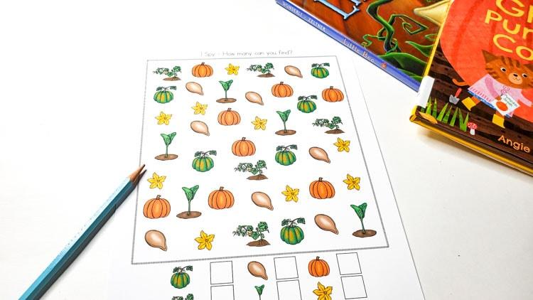 Life cycle of a pumpkin worksheet