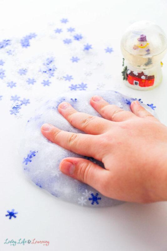 Snowy Winter Slime Recipe