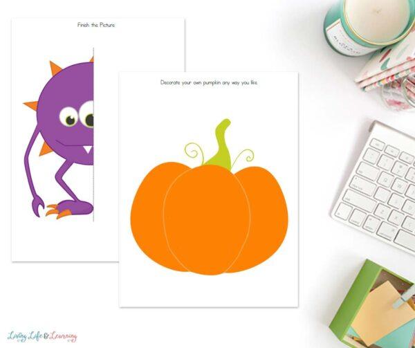 Halloween printables for drawing
