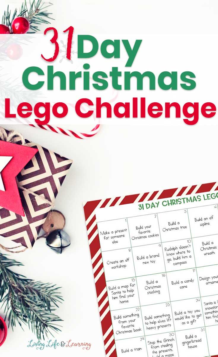 31 Day Christmas Lego Challenge Calendar