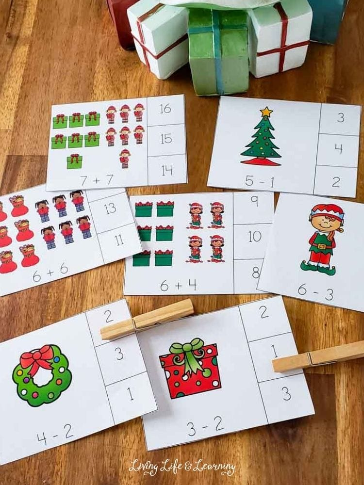 Christmas math cards