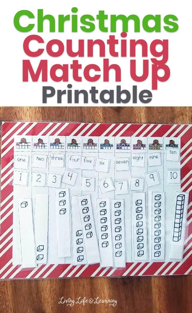Christmas Counting Match Up Printable
