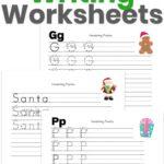 Christmas Kindergarten Writing Worksheets