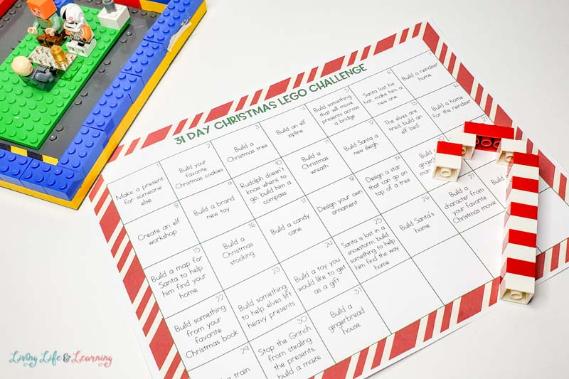 Christmas Lego Challenge Calendar