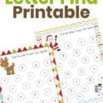 Christmas Letter Find Printable