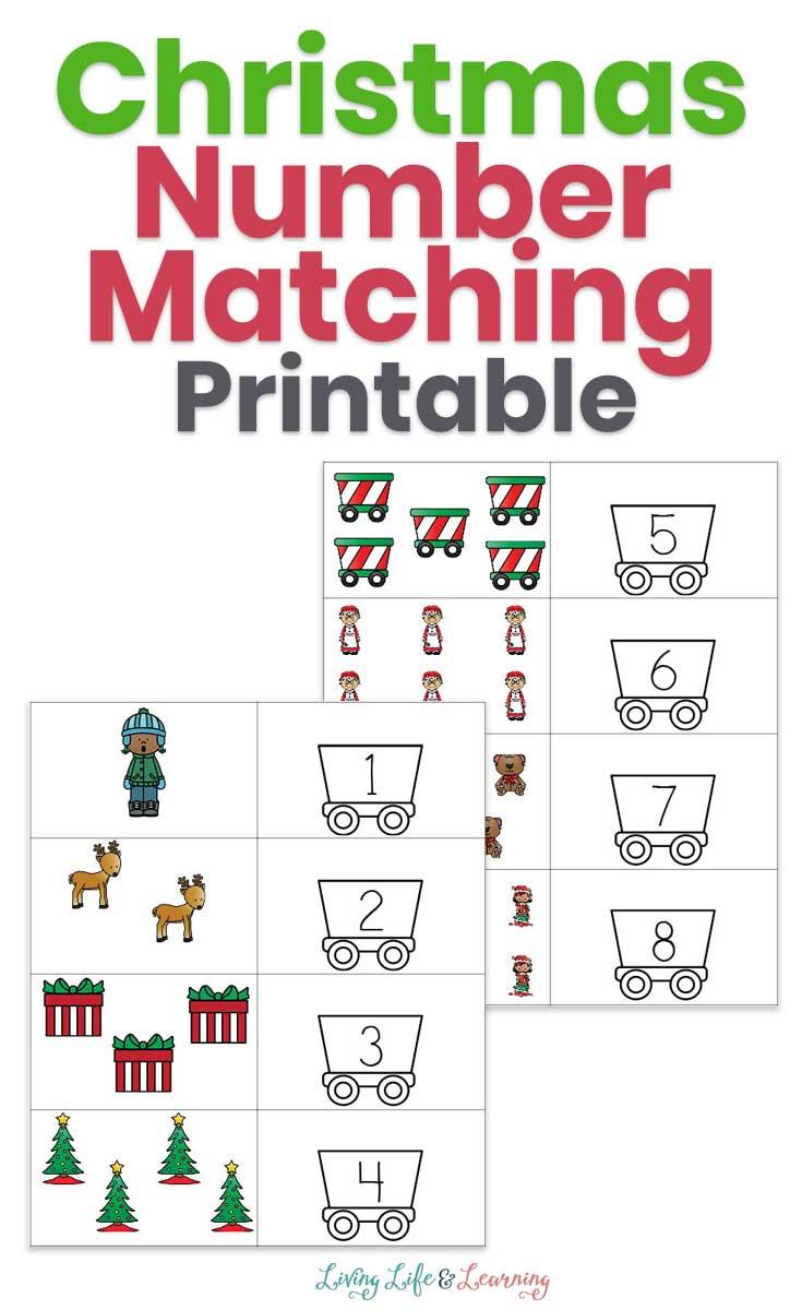 Christmas Number Matching Printable