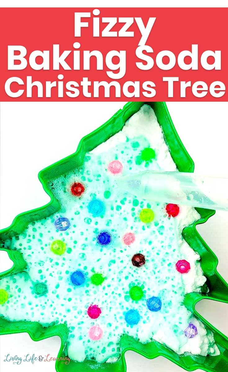 It's that time of year again, so it's a perfect time to take advantage of the kids' interest in the holidays and sneak in a little extra learning too. So we're giving to you this fizzy baking soda Christmas Tree experiment!