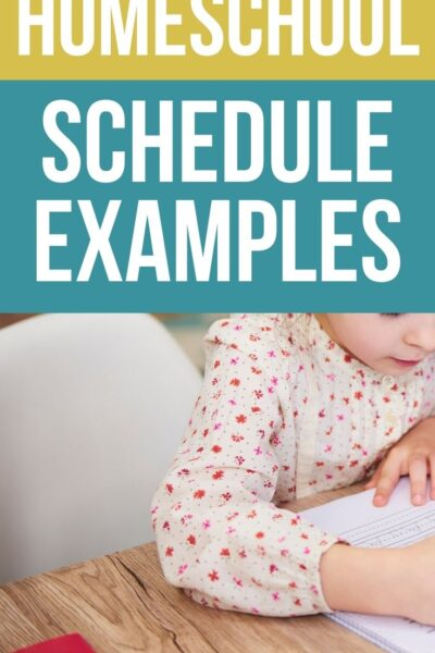 Must-see Sample Homeschool Schedules