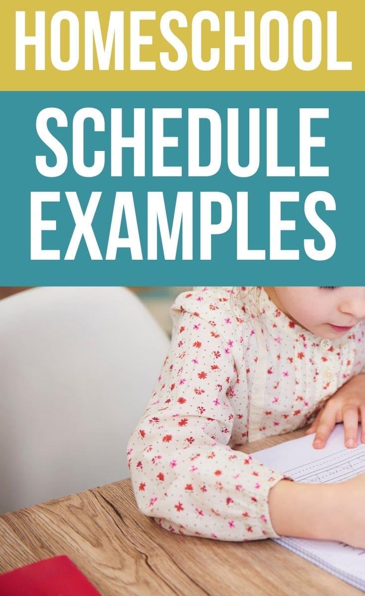 Sample Homeschool Schedules