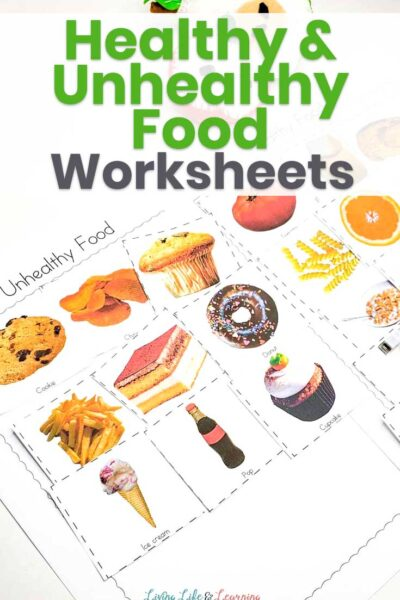 Healthy and Unhealthy Food Sorting Worksheet